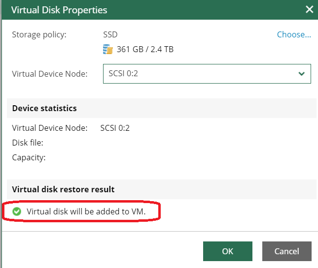 virtual disk properties